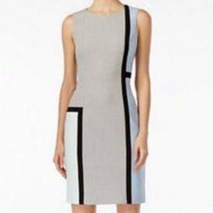 Calvin Klein Sleeveless Colorblocked Sheath Dress